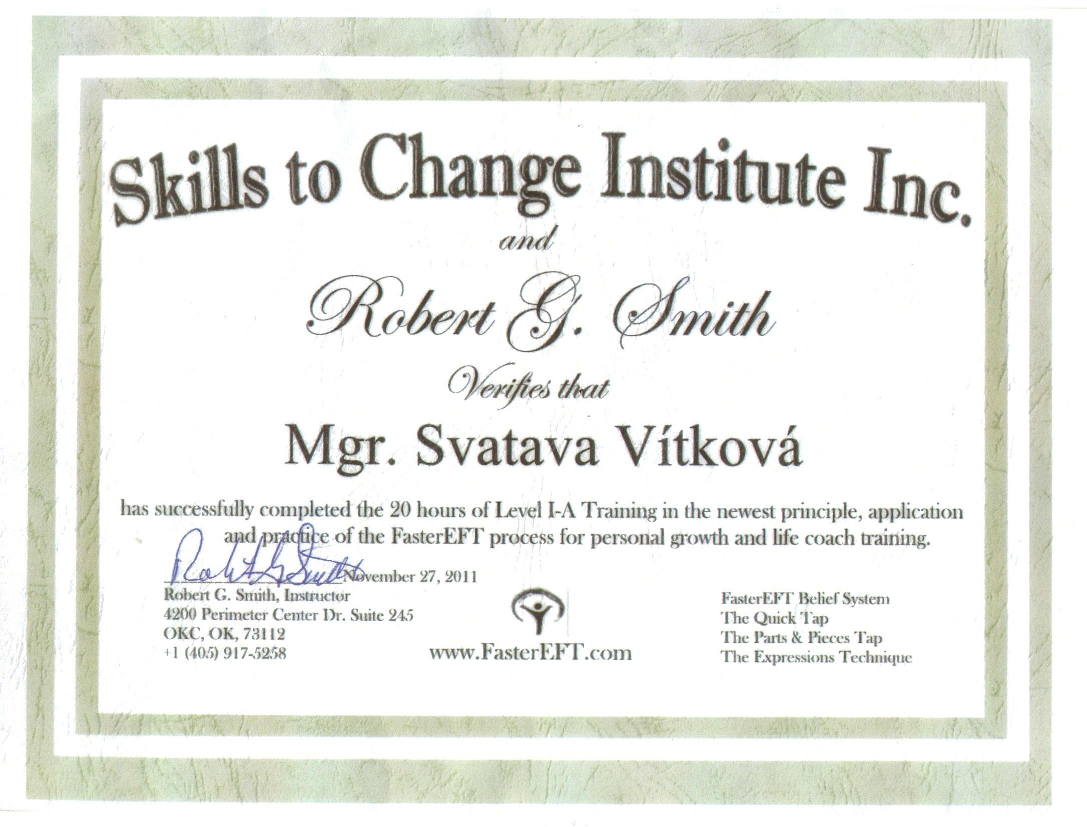 FEFT certifikát